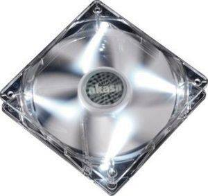 AKASA AK-FN054 QUIET 8CM PEARL WHITE LED FAN