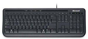 MICROSOFT WIRED KEYBOARD 600 GR BLACK RETAIL