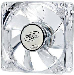 DEEPCOOL XFAN 80L/R 80MM TRANSPARENT FAN WITH RED LED