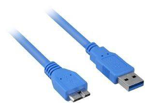 SHARKOON MICRO USB3.0 CABLE 3M BLUE
