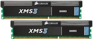 CORSAIR CMX8GX3M2A1600C11 XMS3 8GB  2X4GB  DDR3 1600MHZ PC3 12800 DUAL CHANNEL KIT