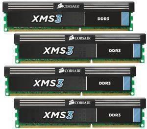 CORSAIR CMX16GX3M4A1600C9 XMS3 16GB  4X4GB  DDR3 1600MHZ PC3 12800 QUAD CHANNEL KIT