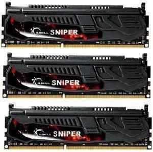 G SKILL F3 12800CL9T 12GBSR 12GB  3X4GB  DDR3 PC3 12800 1600MHZ SNIPER TRIPLE CHANNEL KIT