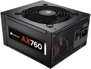 CORSAIR AX760 ATX POWER SUPPLY - 760 WATT 80 PLUS PLATINUM CERTIFIED FULLY-MODULAR PSU