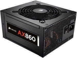 CORSAIR AX860 ATX POWER SUPPLY - 860 WATT 80 PLUS PLATINUM CERTIFIED FULLY-MODUL υπολογιστές τροφοδοτικα 800 900 watt
