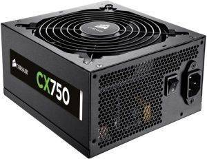 CORSAIR CX750 - 80 PLUS BRONZE CERTIFIED POWER SUPPLY υπολογιστές τροφοδοτικα 700 800 watt