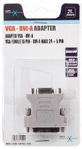 NATEC NKA-0416 EXTREME MEDIA ADAPTER DVI-A(M)(24+5) DUAL LINK TO VGA (15F)