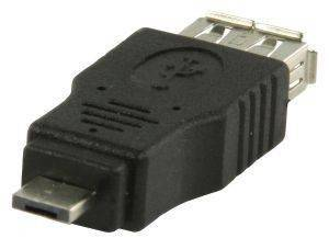 VALUELINE VLCP60903B USB A FEMALE - USB MICRO A MALE USB2.0 ADAPTER