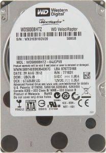 WESTERN DIGITAL WD5000BHTZ 500GB VELOCIRAPTOR SATA2