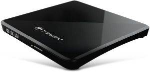 TRANSCEND TS8XDVDS-K EXTRA SLIM PORTABLE DVD WRITER BLACK