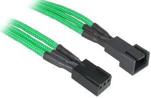 BITFENIX 3-PIN EXTENSION 60CM - SLEEVED GREEN/BLACK