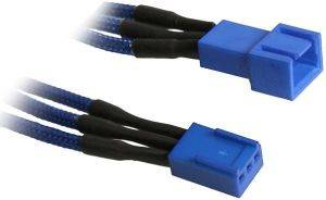 BITFENIX 3-PIN EXTENSION 90CM - SLEEVED BLUE/BLUE