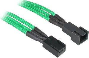 BITFENIX 3-PIN EXTENSION 90CM - SLEEVED GREEN/BLACK