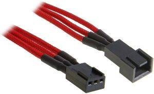 BITFENIX 3-PIN EXTENSION 90CM - SLEEVED RED/BLACK