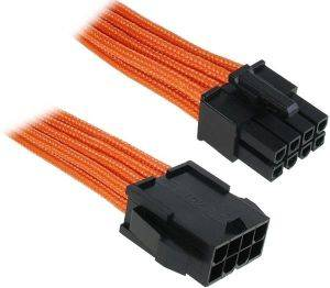 BITFENIX 8-PIN EPS12V EXTENSION 45CM - SLEEVED ORANGE/BLACK