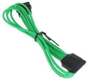 BITFENIX MOLEX TO SATA ADAPTER 45CM - SLEEVED GREEN/BLACK