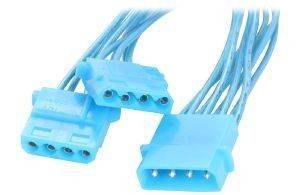 AKASA AK-PY-BLUV POWER SPLITTER CABLE BLUE UV COATED