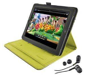 TRUST 19113 PREMIUM FOLIO STAND & IN-EAR HEADPHONE FOR IPAD GREY/LIME