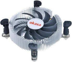 AKASA AK-CC7122BP01 LOW PROFILE CPU COOLER FOR INTEL LGA775/LGA115X 74MM PWM FAN
