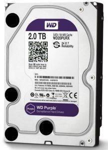 WESTERN DIGITAL WD20PURX PURPLE SURVEILLANCE HARD DRIVE 2TB 3 5  SATA3