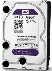 WESTERN DIGITAL WD30PURX PURPLE SURVEILLANCE HARD DRIVE 3TB 3 5  SATA3