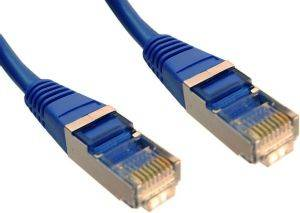 INLINE PATCH CABLE S/FTP CAT.5E RJ45 0.5M BLUE