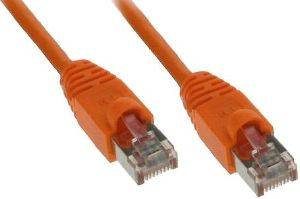INLINE PATCH CABLE S/FTP CAT.5E RJ45 0.5M ORANGE