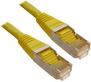 INLINE PATCH CABLE S/FTP CAT.5E RJ45 0.5M YELLOW