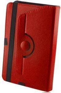 GREENGO UNIVERSAL CASE PU FOR TABLET 8'' ORBI 360 RED