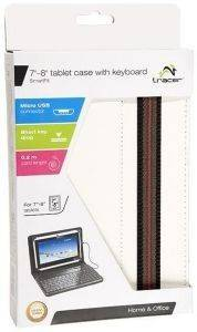 TRACER TRATOR43853 TABLET CASE WITH KEYBOARD 7-8'' SMART FIT WHITE