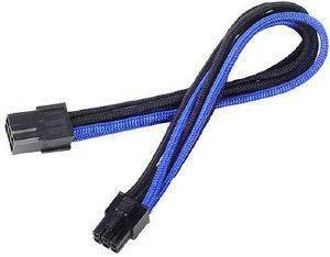 SILVERSTONE PP07-IDE6BA 6-PIN PCI-E TO 6-PIN PCI-E CABLE 250MM BLACK/BLUE
