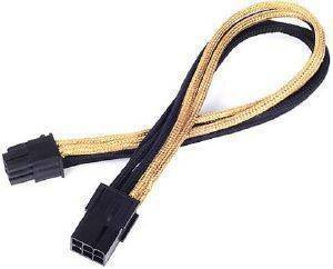 SILVERSTONE PP07-IDE6BG 6-PIN PCI-E TO 6-PIN PCI-E CABLE 250MM BLACK/GOLD
