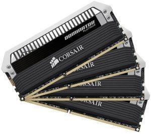 CORSAIR CMD16GX3M4A1600C7 DOMINATOR PLATINUM 16GB  4X4GB  DDR3 1600MHZ QUAD CHANNEL KIT