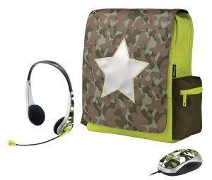 TRUST COMBAT 12'' NETBOOK SCHOOLBAG WITH MOUSE AND HEADSET