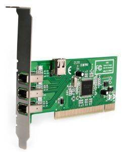 STARTECH 4-PORT PCI 1394A FIREWIRE ADAPTER CARD - 3 EXTERNAL 1 INTERNAL