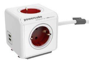 ALLOCACOC POWERCUBE EXTENDED USB INCL. 1.5M CABLE RED TYPE F