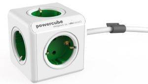 ALLOCACOC POWERCUBE EXTENDED INCL. 1.5M CABLE GREEN TYPE F