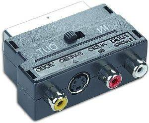 CABLEXPERT CCV-4415 ADAPTER SCART PLUG TO 3 RCA JACKS AND 1 S-VIDEO JACK WITH SWITCH