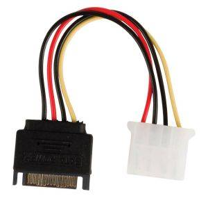 VALUELINE VLCP73530V0.15 INTERNAL POWER ADAPTER CABLE SATA 15-PIN MALE - MOLEX FEMALE 0.15M