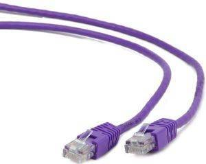CABLEXPERT PP6-0.25M/V PURPLE FTP CAT6 PATCH CORD MOLDED STRAIN RELIEF 50U PLUGS 0.25M