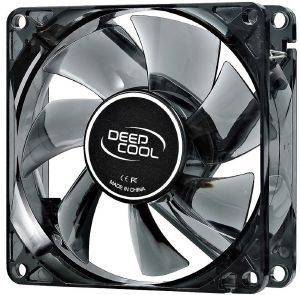 DEEPCOOL WINDBLADE 80MM SEMI-TRANSPARENT FAN WITH BLUE LED