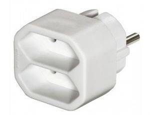HAMA 47631 2-WAY MULTI-PLUG WHITE 2PCS