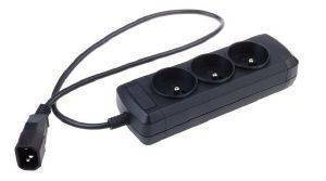 NATEC NSP-0517 EXTREME MEDIA POWER STRIP 3 SOCKETS FOR UPS SYSTEM (IEC CONNECTOR) BLACK
