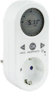 REV DIGITAL TIMER WITH LCD DISPLAY WHITE