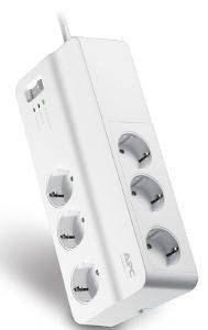 APC PM6-GR ESSENTIAL SURGEARREST 6 OUTLETS 230V WHITE ΜΕ ΔΙΑΚΟΠΤΗ