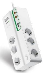 APC PMH63VT-GR HOME/OFFICE SURGEARREST 6 OUTLETS WITH PHONE & COAX PROTECTION 230V WHITE ΜΕ ΔΙΑΚΟΠΤ