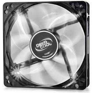 DEEPCOOL WINDBLADE 120W SEMI-TRANSPARENT BLACK FAN 120MM WITH WHITE LED