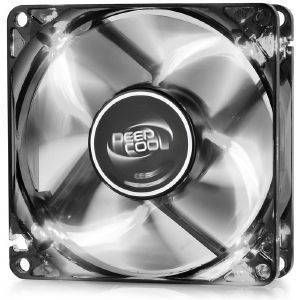 DEEPCOOL WINDBLADE 80W SEMI-TRANSPARENT BLACK FAN 80MM WITH WHITE LED