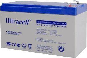 ULTRACELL UL7.2-12F2 LEAD BATTERY 12V 7.2AH