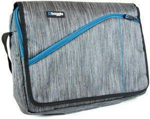 BAGGIE MESSENGER BAG GREY 15.6'' BLUE (BGE156988)